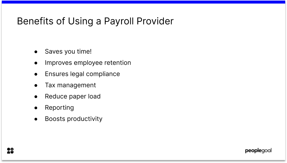 Benefits of Using a Payroll Provider