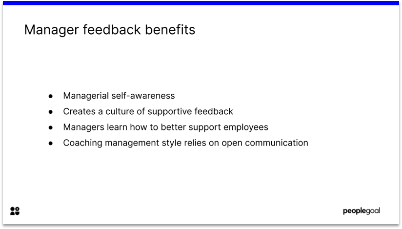 Manager feedback benefits