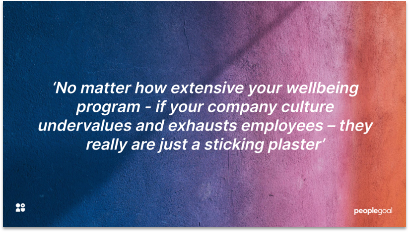 Quotation on importance of company culture to employee wellbeing