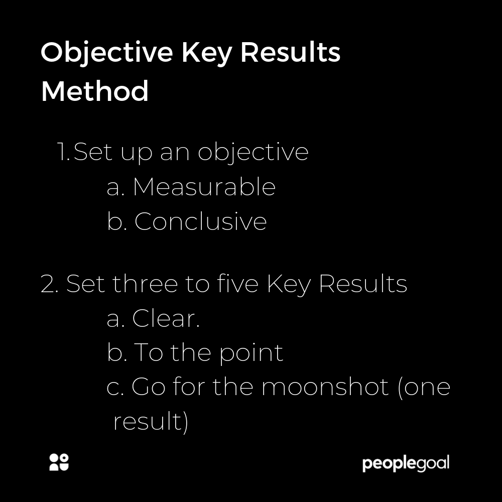 Objective Key Results Method