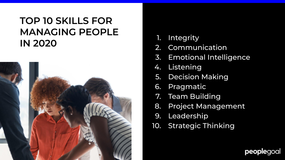 TOP 10 SKILLS FOR MANAGING PEOPLE IN 2020