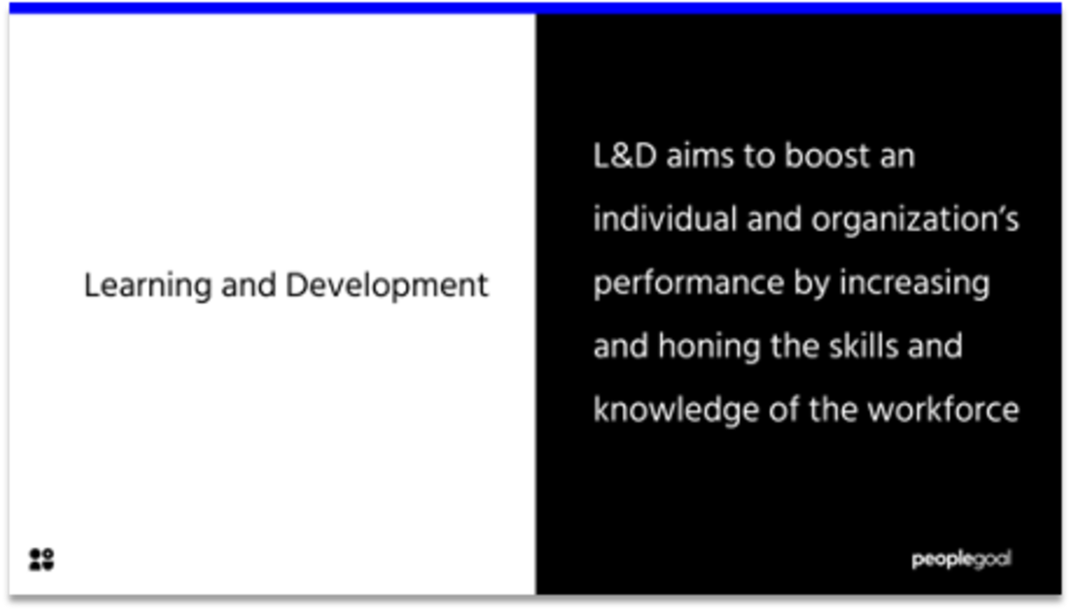 Learning and Development Definition