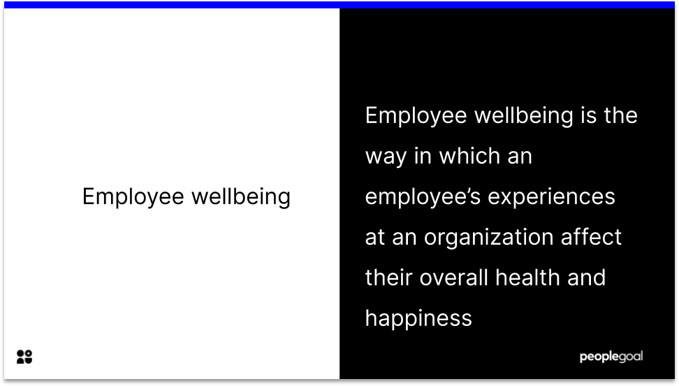 Definition of Employee Wellbeing