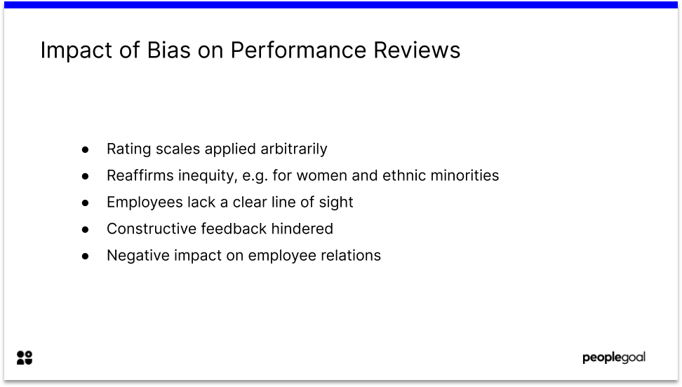 Impact of Bias on Performance Reviews