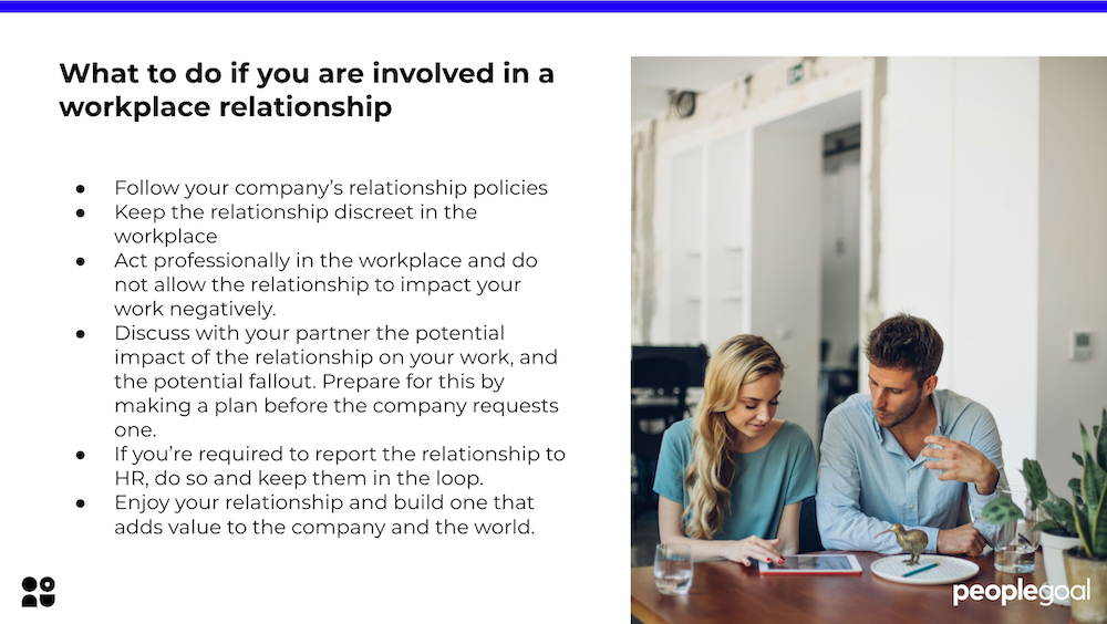 What to do if you are involved in a relationship in the workplace