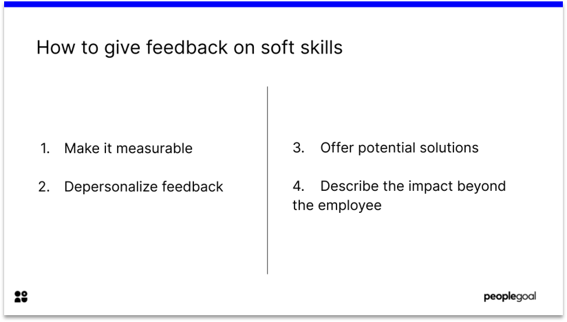 Constructive Feedback on Soft Skills