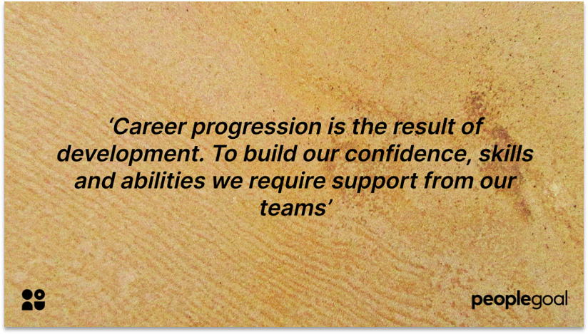 Career progression in diversified workplaces quotation